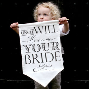 Personalised Wedding Announcement Banner - for children