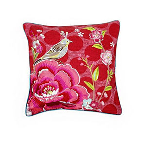 Bird Of Paradise Print Cushion
