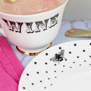 'Wine' Teacup And Saucer
