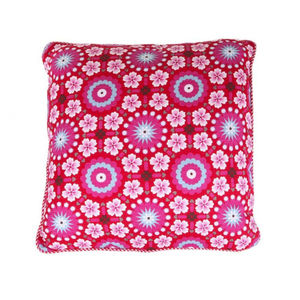 Red Tile Print Cushion
