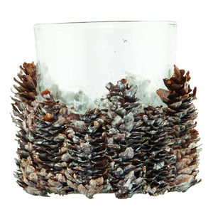 Pinecone Tea Light Holder - christmas lighting