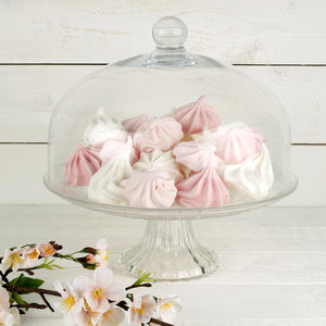 Glass Cake Stand With Dome - kitchen accessories