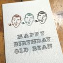 Happy Birthday Old Bean Card