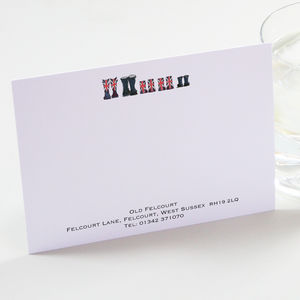 Personalised Welly Boot Correspondence Cards - writing