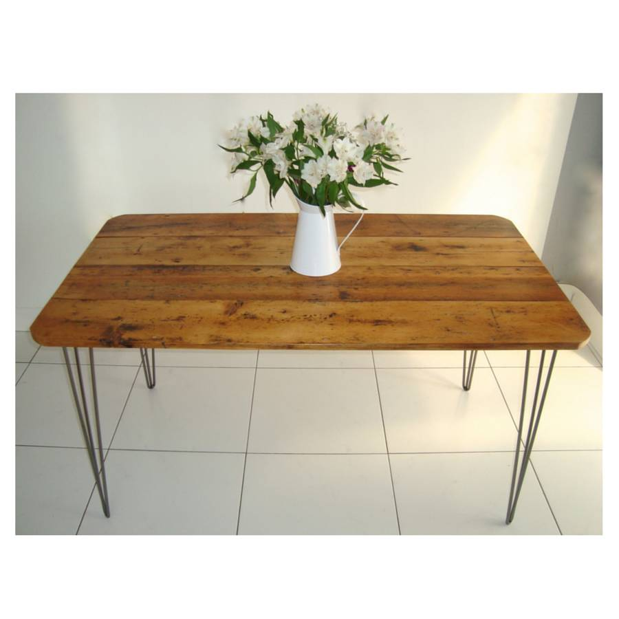 Rex Dining Table With Hairpin Legs By Renn Uk