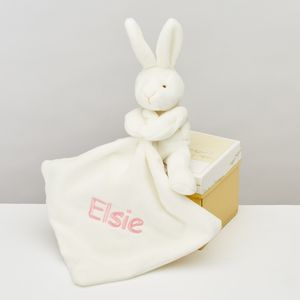 The Softest Toy Rabbit With Comforter - sleeping