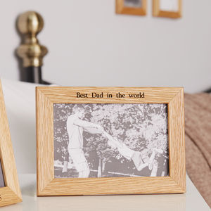 Personalised Oak New Home Photo Frame - picture frames