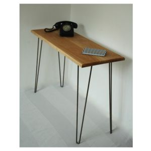 Margot Console Table Desk With Hairpin Legs - furniture