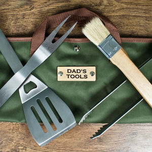 Personalised Barbecue Tools Gift Set - gifts under £50 for him