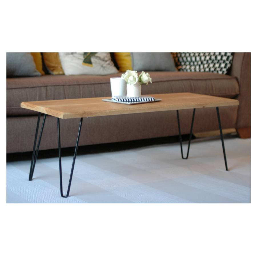 Jasper Coffee Table With Hairpin Legs By Renn Uk
