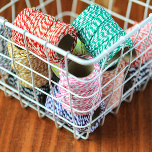 Striped British Bakers Twine - cards & wrap