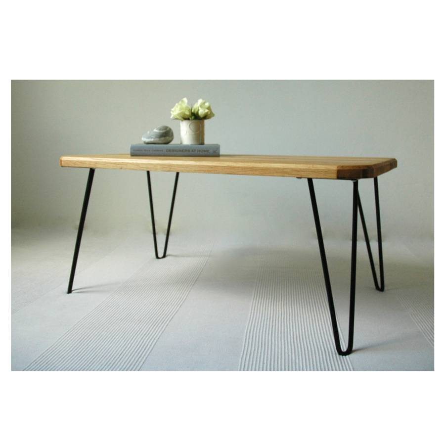 Ruby Coffee Table With Hairpin Legs