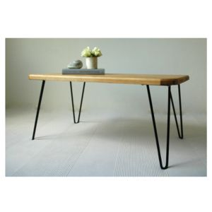 Ruby Coffee Table With Hairpin Legs - living room