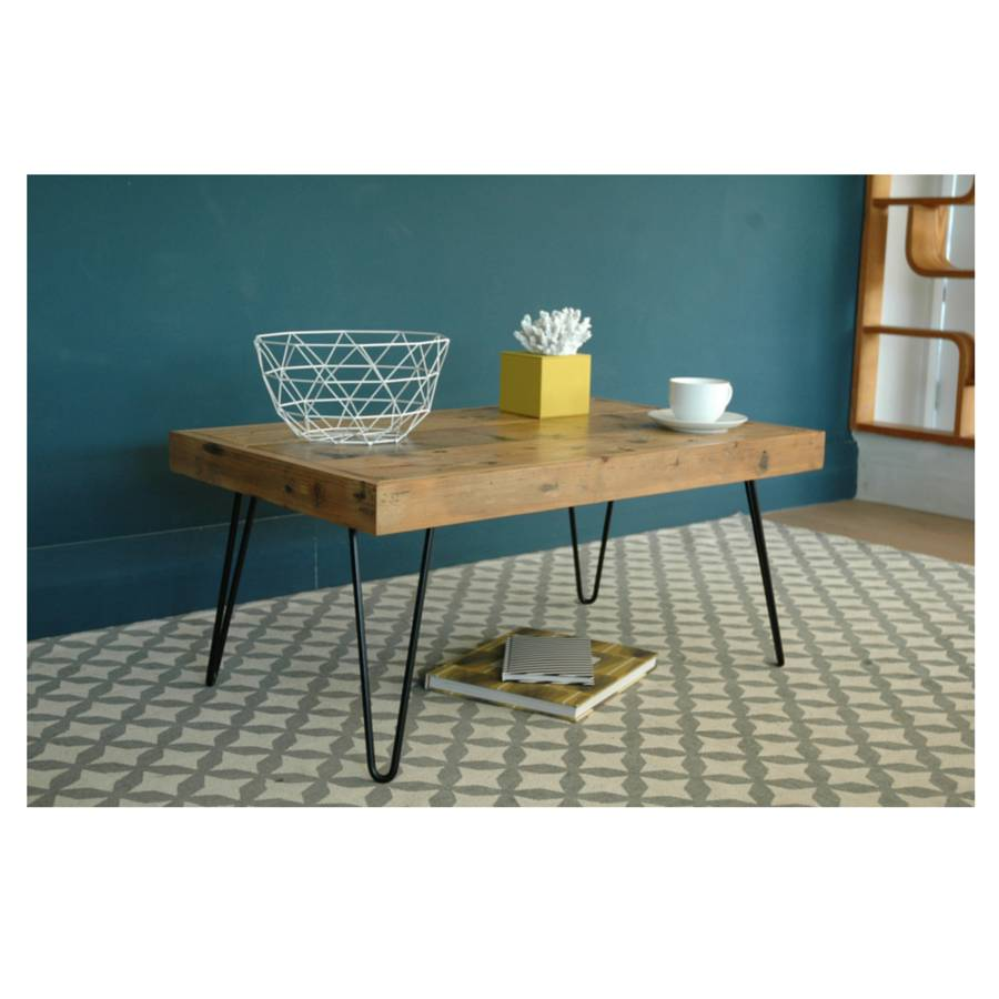 Billy Coffee Table With Hairpin Legs By Renn Uk Notonthehighstreet Com