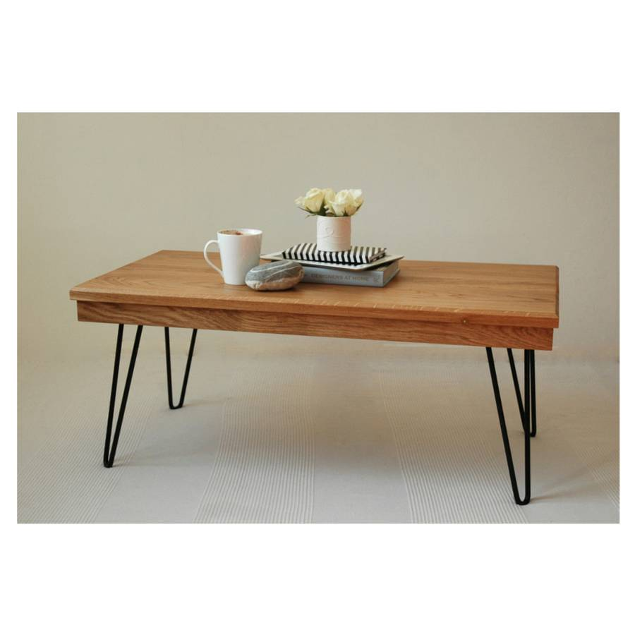 Harry Coffee Table With Hairpin Legs By Renn Uk