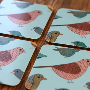 Blue Birds Coaster