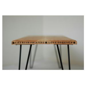 Personalised Vintage Style Hairpin Leg Table - side tables
