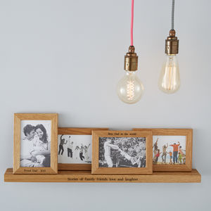 Personalised Multi Frame Shelf With Four Frames - office & study