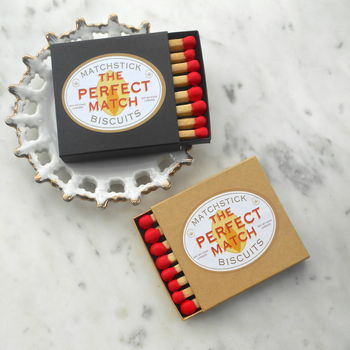 'Perfect Match' Box Of Matchstick Biscuits