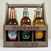 Personalised Wooden Beer Trug - garden