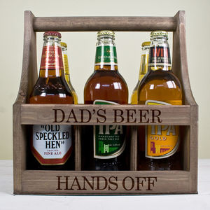 Personalised Wooden Beer Trug - gifts for fathers