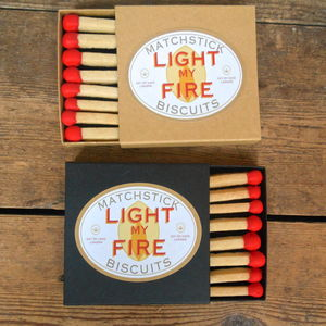 Light My Fire Matchstick Biscuits - love tokens