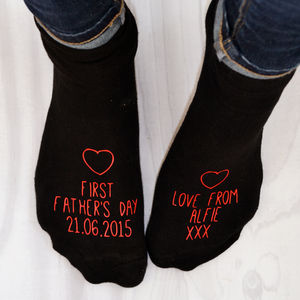 First Father's Day Personalised Socks