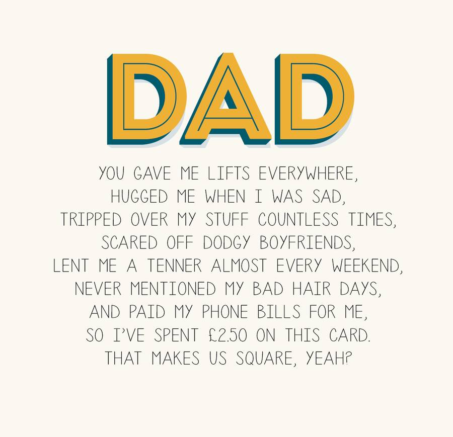 Dad Birthday Card By Paper Plane