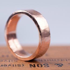 Organic Wide Gold Ring - wedding rings