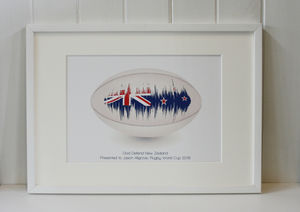 Personalised Rugby Song Sound Wave Print