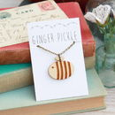Cute Laser Cut Bee Pendant made in the UK