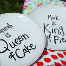 Personalised King And Queen Ceramic Plates