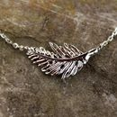 **'Botanica' Silver Leaf Necklace