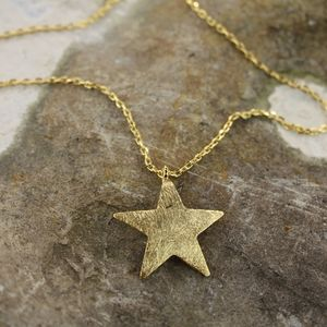 'Bright Star' Gold Star Necklace - necklaces & pendants