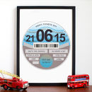 Personalised Tax Disc Father's Day Print