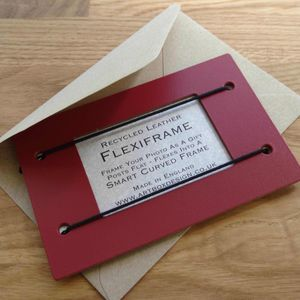 Personalised Leather Photo Frame - picture frames