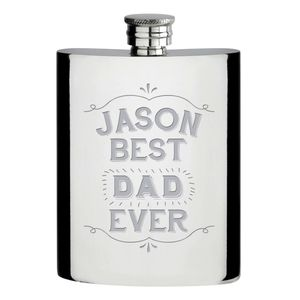 Personalised Best … Ever Hip Flask