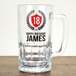 Personalised Big Birthday Tankard - glassware