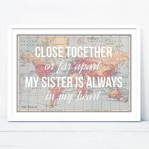 Personalised Sister Print - posters & prints