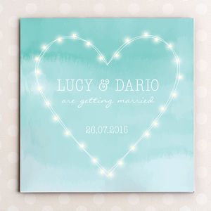 Fairy Lights Heart Wedding Invitation - invitations