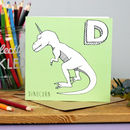 Dinosaur Unicorn Card