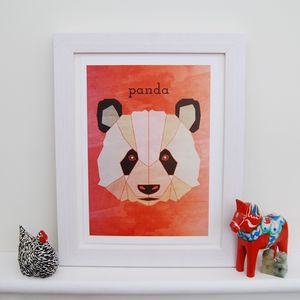 Personalised Panda Animal Print - contemporary art
