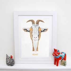 Goat Animal Print - children's pictures & paintings