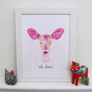 Personalised Deer Animal Print