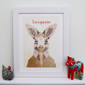 Personalised Kangaroo Animal Print
