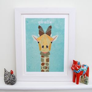Personalised Giraffe Animal Print