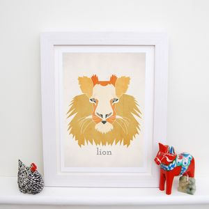 Personalised Lion Animal Print - animals & wildlife