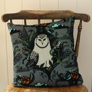 Owl Velvet Cushion