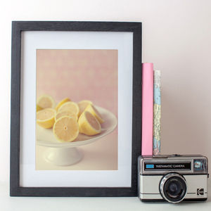 Pastel Lemons Photographic Print - food & drink prints