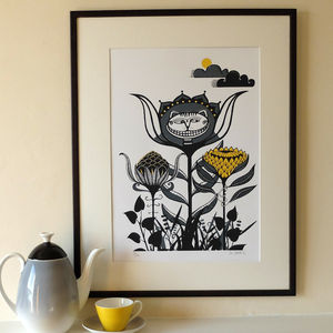 Cheshire Cat Screen Print - posters & prints
